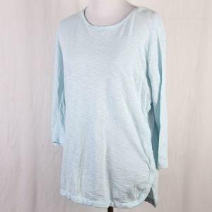 Gap Body Maternity Light Aqua 3/4 Shirt M